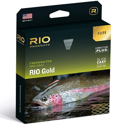 RIO Elite Gold Freshwater Trout SureFire Tricolor Marking System Ultra Slick Cast Technology Tapered MaxFloat Small Diameter Fly Fishing Line