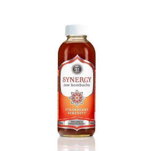 GT's Synergy Strawberry Organic Vegan Kombucha - 16 fl oz Bottle - image 1 of 3