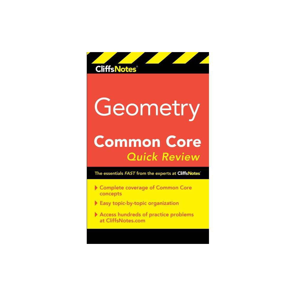 Cliffsnotes Geometry Common Core Quick Review By M Sunil R Koswatta Paperback