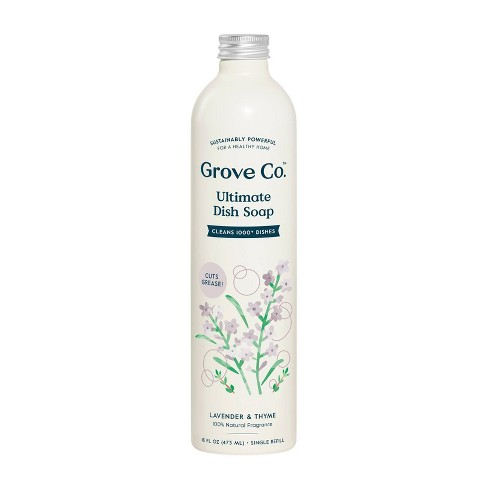 Grove Co. Ultimate Dish Soap Refill in Aluminum Bottle - Lavender & Thyme - 16 fl oz - image 1 of 4