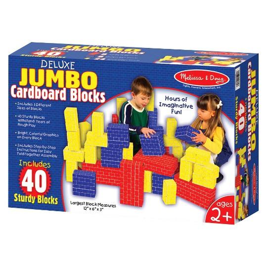 Melissa & Doug Lightweight Jumbo Cardboard Building Block Set - 40pc image number null