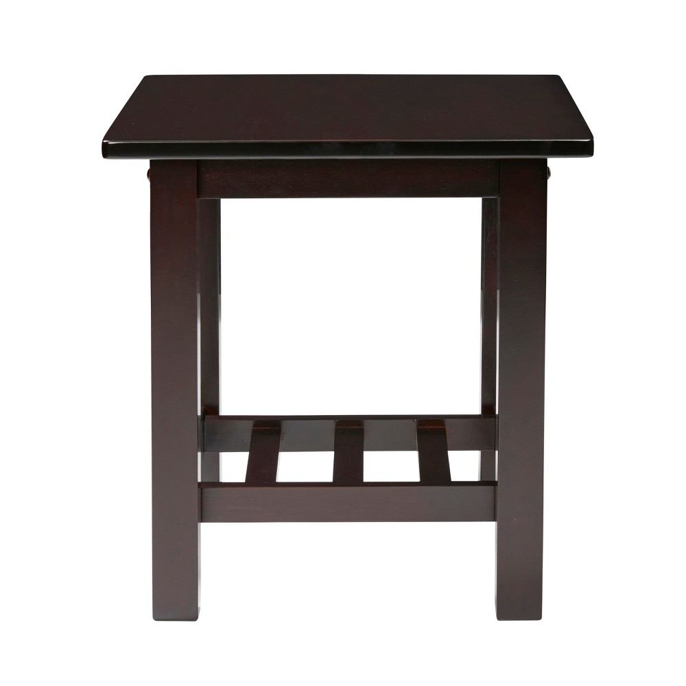 Image of Bedford Grove Wood End Table, Set of 2 - Espresso Brown - Handy Living
