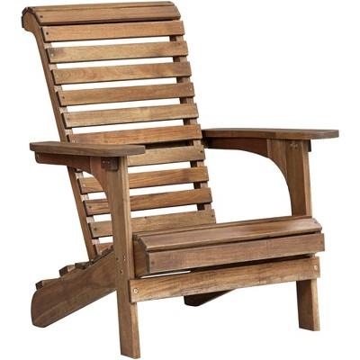 Teal Island Designs Kenneth Acacia Natural Wood Adirondack Chair
