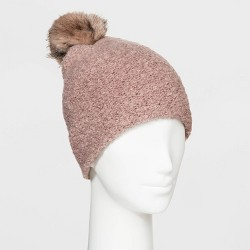 Women's Sherpa Beanie Hat - Universal Thread™ One Size