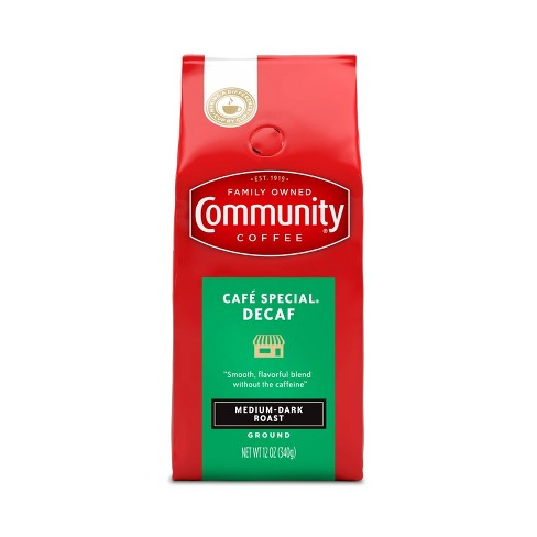 Community Coffee Caf Special Medium-Dark Roast Ground Coffee - Decaf - 12oz - image 1 of 4