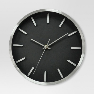 6  Round Wall Clock Black/Silver - Project 62™