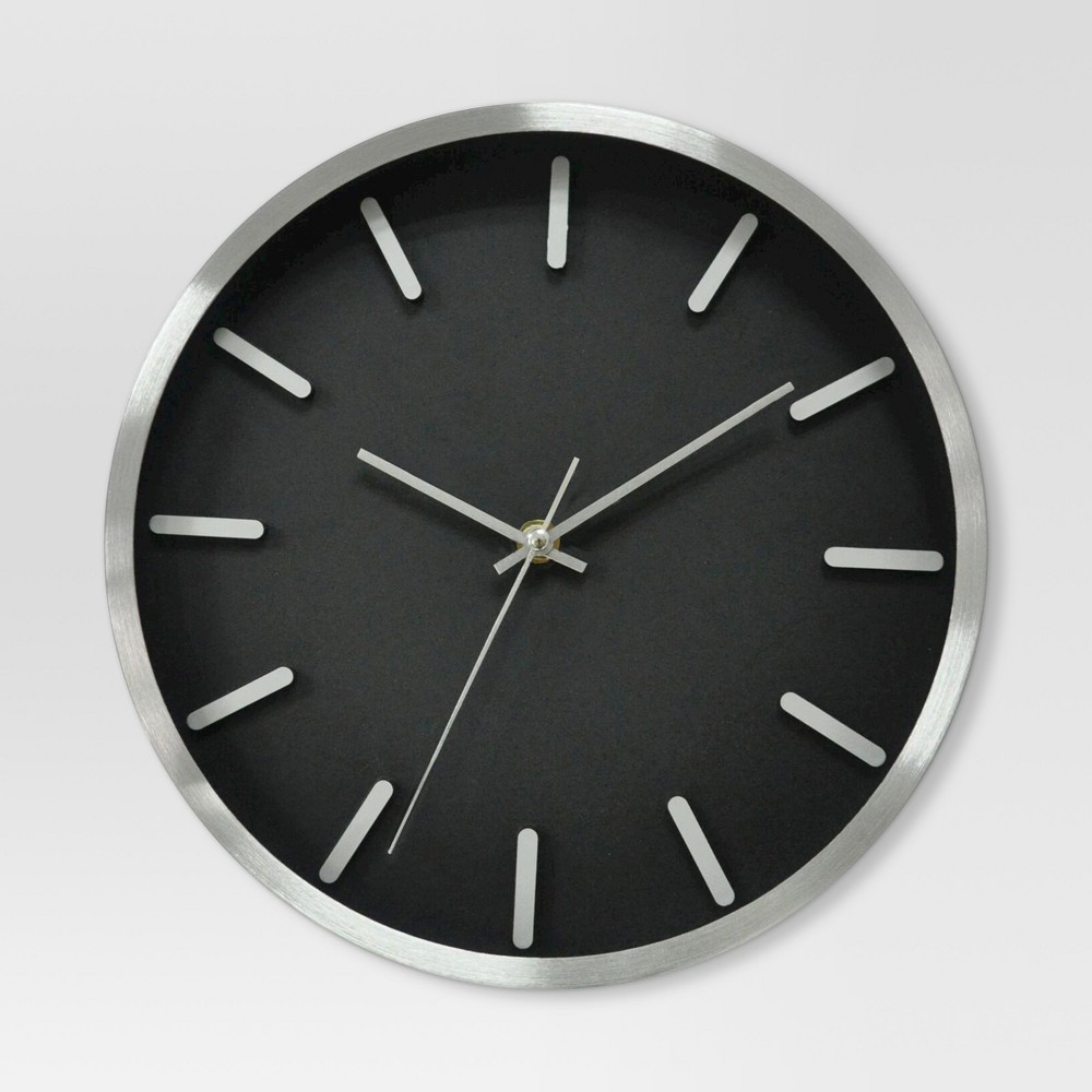 6 Round Wall Clock Black/Silver - Project 62