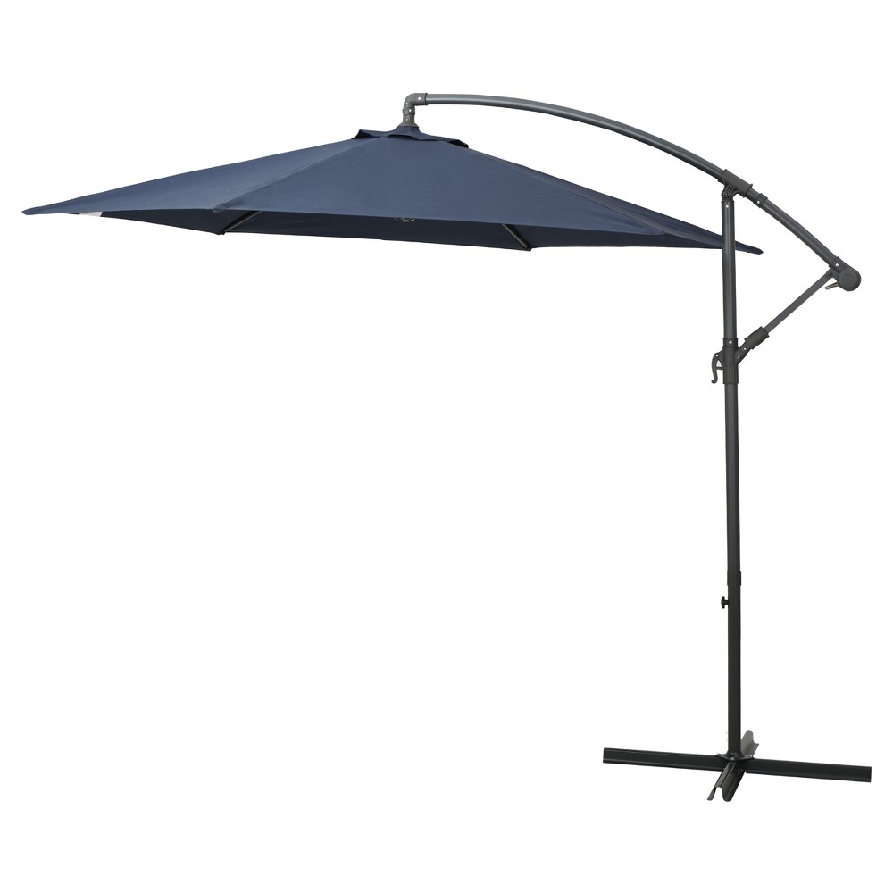 Image of 10' Monterey Banana Sun Cantilever Canopy - Navy - Christopher Knight Home
