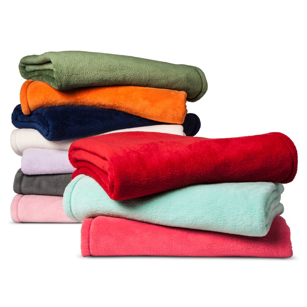 Plush Blanket Green - Pillowfort, Crystalized Green