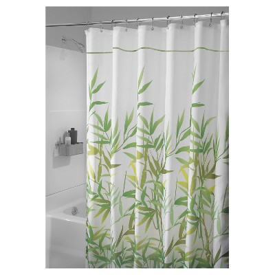 Leaf Shower Curtain Light Green - iDESIGN