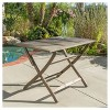 Positano Rectangle Acacia Wood Foldable Dining Table - Christopher Knight Home - image 2 of 4