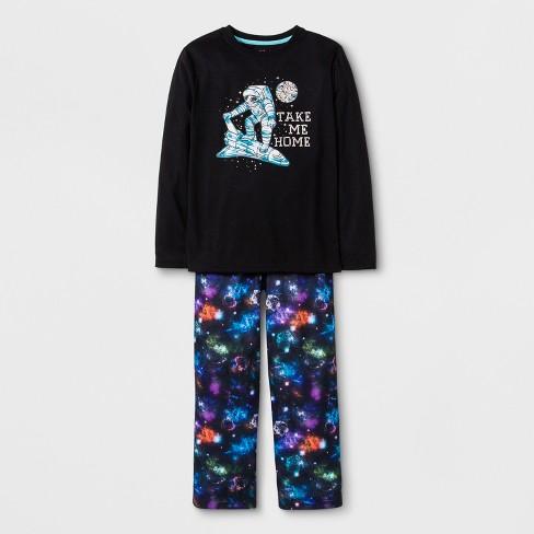 59ab5e218 Boys  2pc Shuttle Graphic Long Sleeve Pajama Set - Cat   Jack™ Black ...