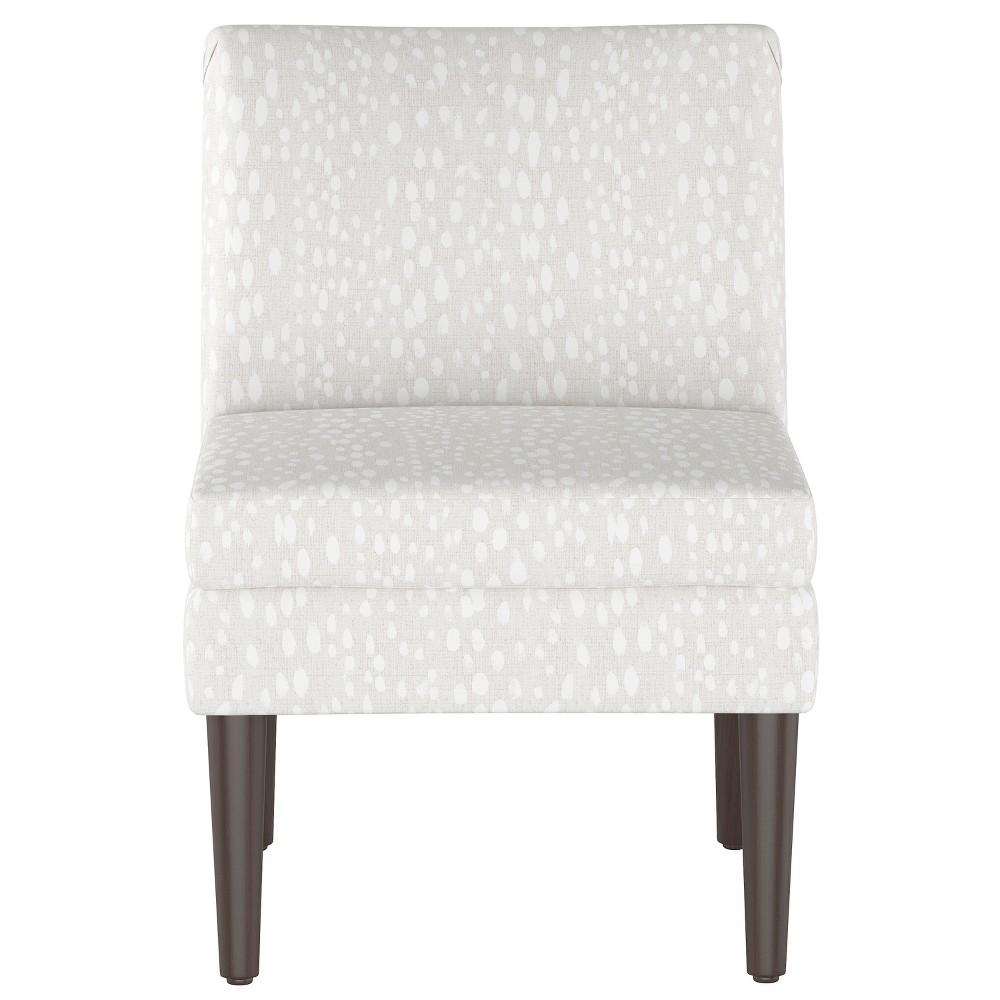 Winnetka Modern Slipper Chair Ivory Leopard Print Project 62