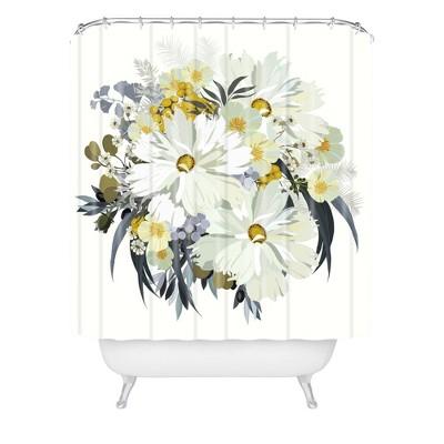 Iveta Abolina Cecelia Shower Curtain White - Deny Designs