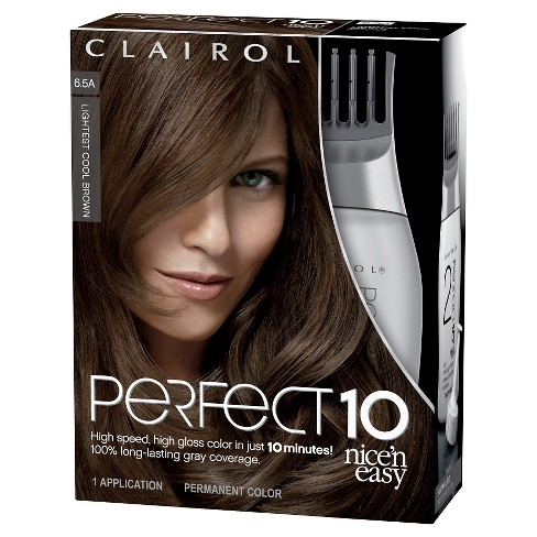 Nice N Easy Clairol Perfect 10 Hair Color 6 5a Lightest Cool Brown 1 Kit