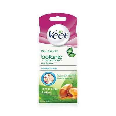 Veet 3-in-1 Complete Face Cream Waxing Kit - 20ct