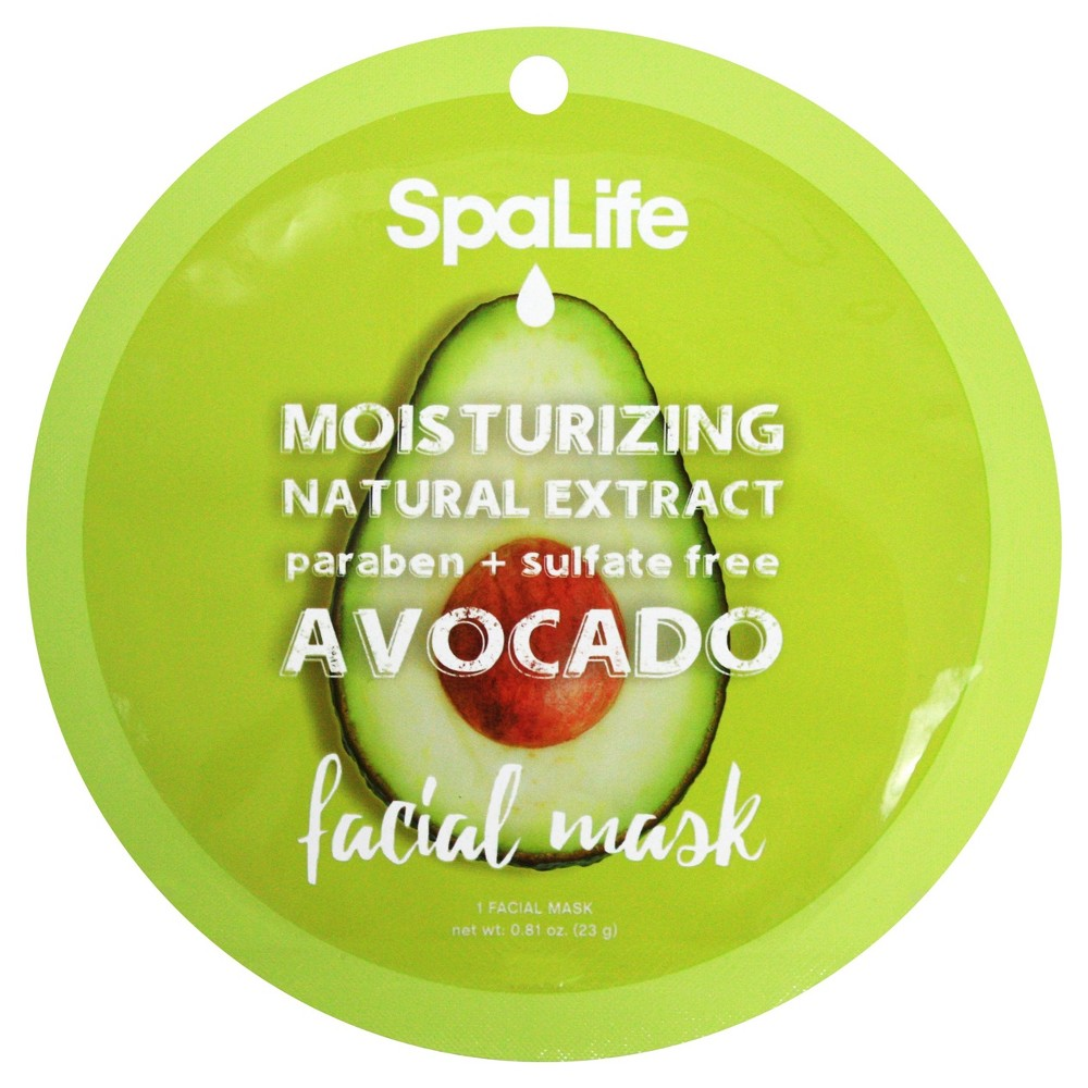 SpaLife Moisturizing Facial Mask - Avocado - 0.81 oz