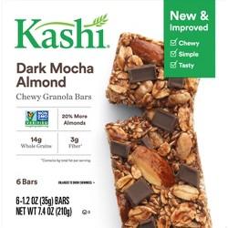 Kashi Chocolate Almond & Sea Salt Chewy Granola Bars - 6ct