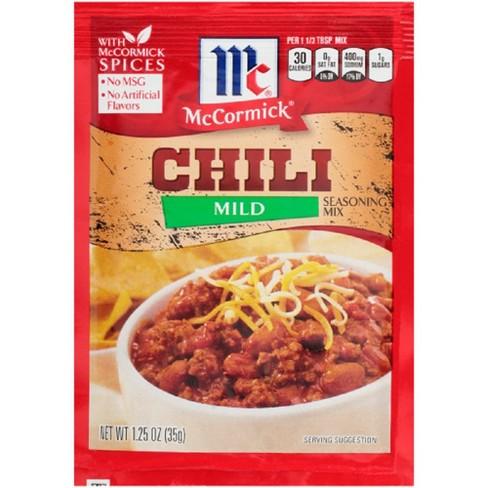 McCormick Mild Chili Seasoning Mix 1.25 oz - image 1 of 3