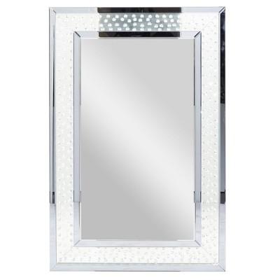 "47"" x 32"" Modern Glass Jewel and Wall Mirror - Olivia & May"