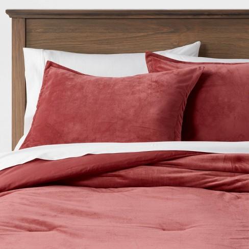 Velvet Comforter & Sham Set - Threshold™ - image 1 of 4