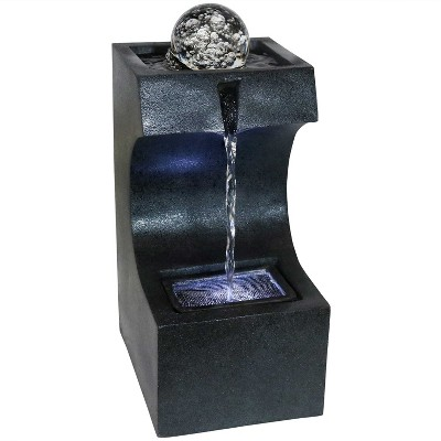 Soothing Matrix Indoor Tabletop Water Fountain with LED Light - Sunnydaze Decor