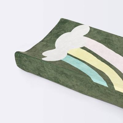 Plush Changing Pad Cover Rainbow - Cloud Island™ - Green