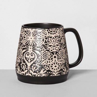 Stoneware Mallorca Mug 24oz Black - Opalhouse™