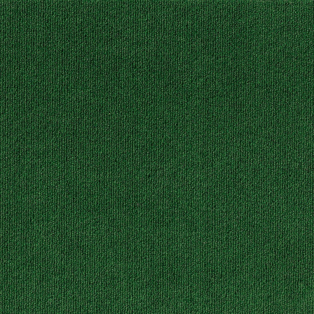 16pk Rib Carpet Tiles Green