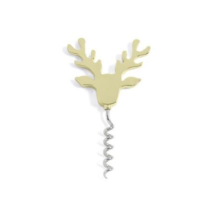 Reindeer Corkscrew - Gold - Shiraleah