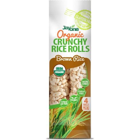 Jayone Organic Crunchy Rice Roll Brown Rice - 2.1oz - image 1 of 1