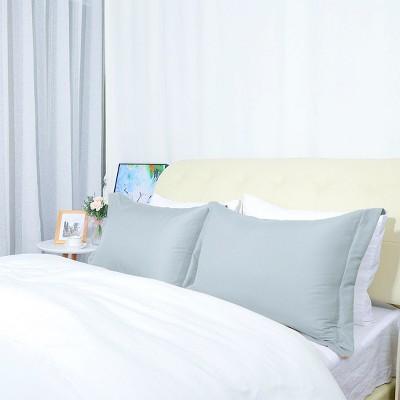 "2 Pcs 20""x30"" 1800 Microfiber Envelope Pillow Cases Light Gray - PiccoCasa"
