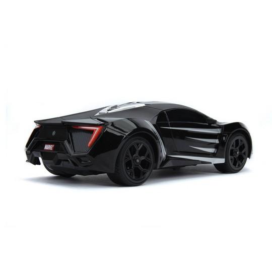 Jada Toys Marvel Avengers Black Panther RC W Motors Lykan HyperSport Remote Control Vehicle 1:16 Scale Primer Black image number null