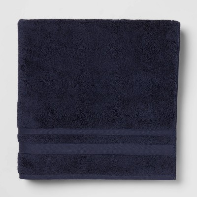 Performance Bath Sheet Navy Blue - Threshold™