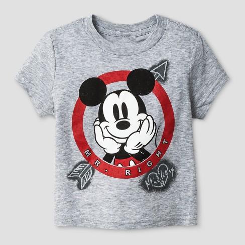 0ff0333d Baby Boys' Disney® Valentine's Mickey Mouse Short Sleeve T-Shirt - Heather  Gray 18M