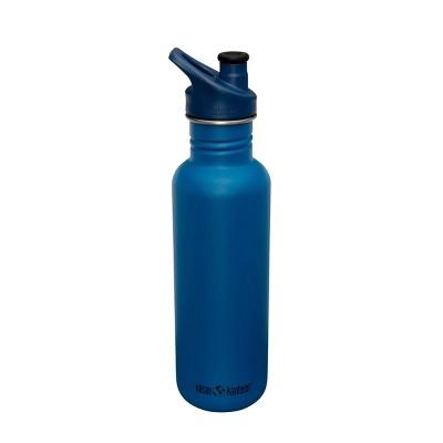 Klean Kanteen 27oz Classic Mykonos Stainless Steel Water Bottle with Sports Cap - Matte Blue