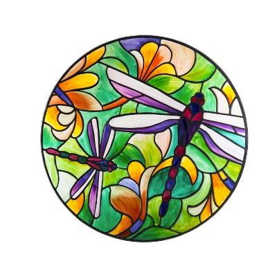 "18"" Art Nouveau Bird Bath, Dragonfly"