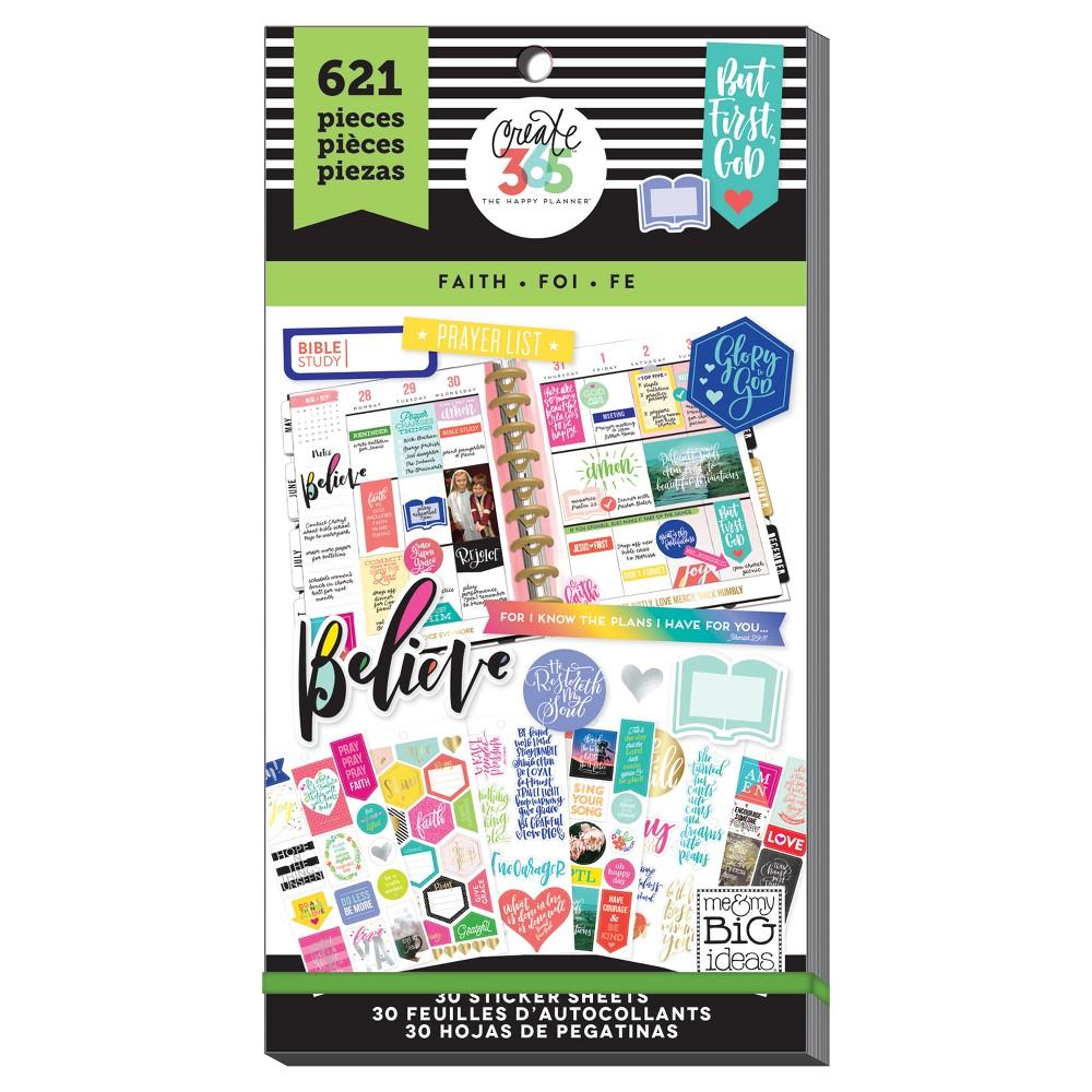 Me & My Big Ideas Planner Stickers Faith Theme 621ct