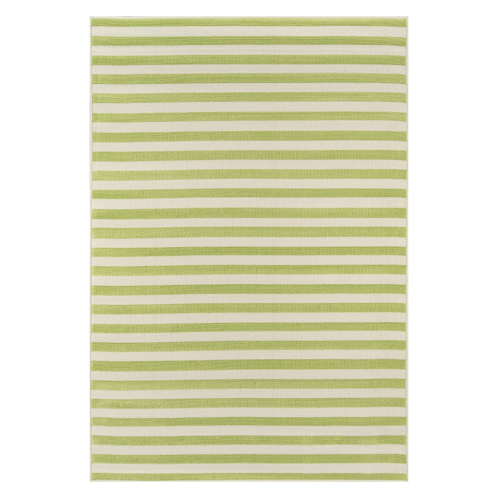 Stripe Loomed Accent Rug Green