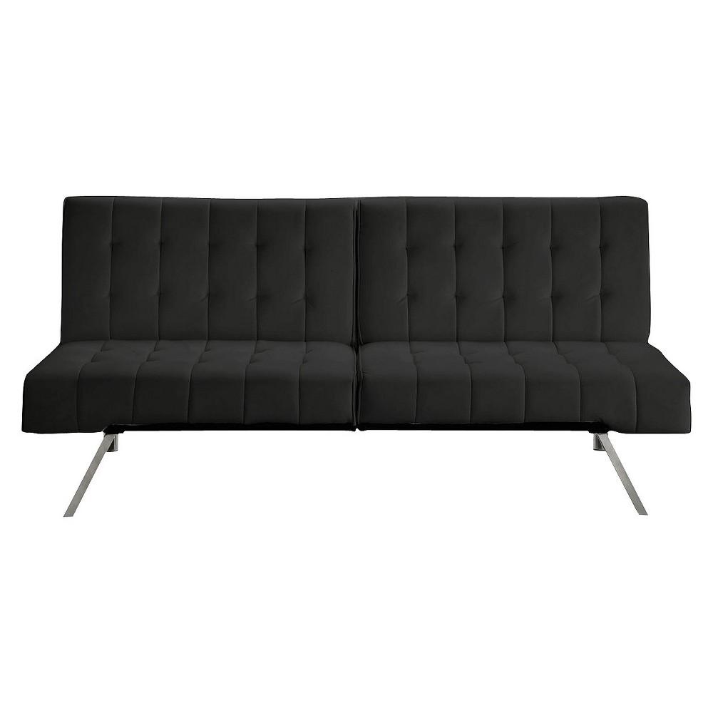 Eve Faux Leather Futon Black - Room & Joy