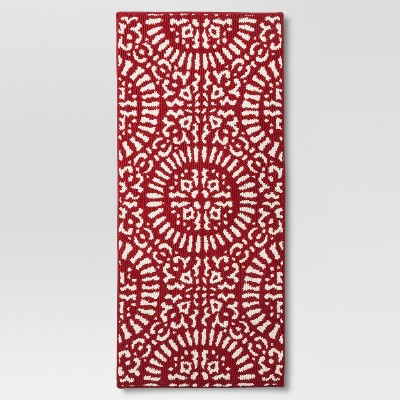 1'8  x 3'9  Red Medallion Kitchen Rug - Threshold™