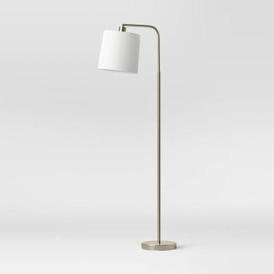 Task Shaded Floor Lamp Silver (Includes LED Light Bulb) - Project 62™