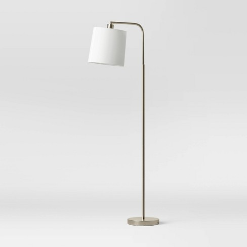 Task Shaded LED Floor Lamp Silver (Includes Energy Efficient Light Bulb) - Project 62™ - image 1 of 4