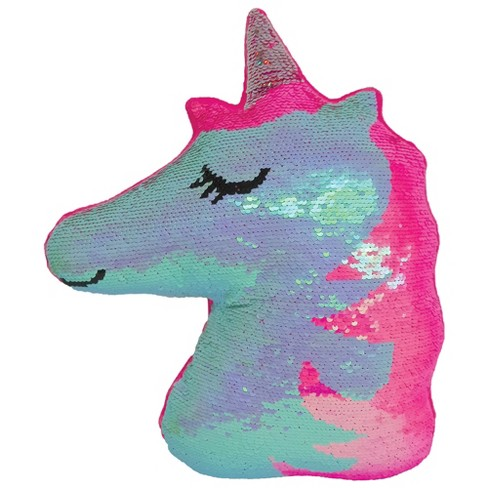 Two Scoops Unicorn Mini Reversible Sequin Pillow - image 1 of 4