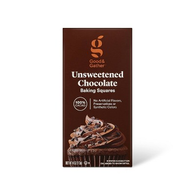 Unsweetened Baking Chocolate Bars 100% Cacao - 4oz - Good & Gather™