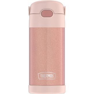 Thermos 12oz FUNtainer Water Bottle - Rose Gold Glitter
