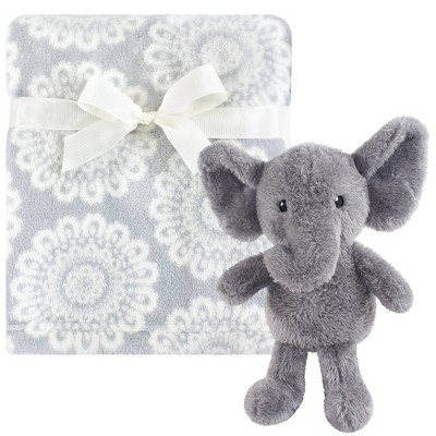 Hudson Baby Unisex Baby Plush Blanket with Toy - Snuggly Elephant