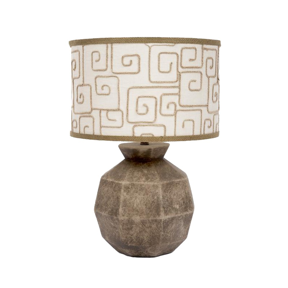 Fangio Lighting Modern Sphere Ceramic Table Lamps Brown (Lamp Only)