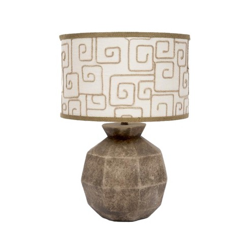 Fangio Lighting Modern Sphere Ceramic Table Lamps Brown Lamp Only
