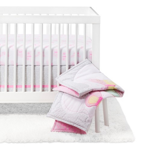 Crib Bedding Set Butterfly Bliss 4pc - Cloud Island™ - Purple - image 1 of 7